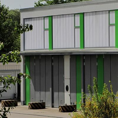 Fahrzeug- und Instandsetzungshallen, General Dr. Speidel-Kaserne, Bruchsal