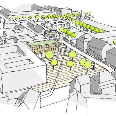 Rahmenkonzept Neuordnung Schillerplatz, Ludwigsburg