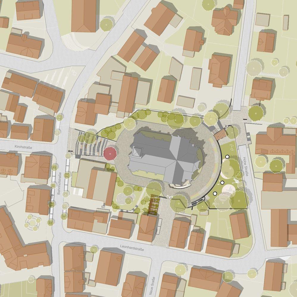 Umgestaltung Kirchplatz, Nagold