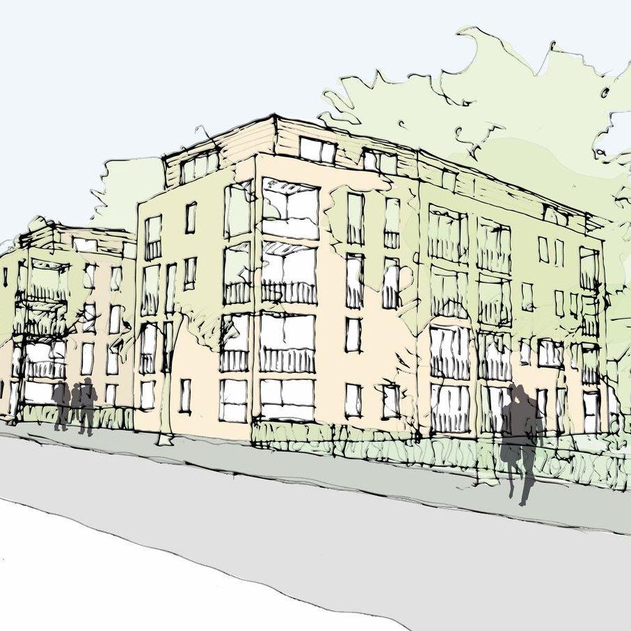 Wohnbebauung Schinnrain-Straße Durlach